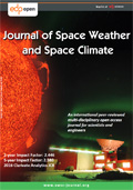 Journal of Space Weather and Space Climate Cover page